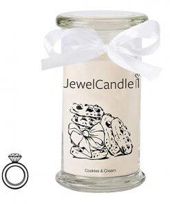 JewelCandle Cookies /& Cream - Bougie Parfumée avec Bijou Surprise en Argent /(Bague