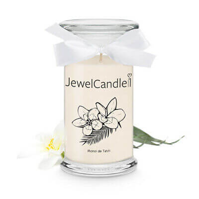 JewelCandle Monoi de Tahiti Bougie Bijou Bougie Parfumée Cadeau Surprise Bijou