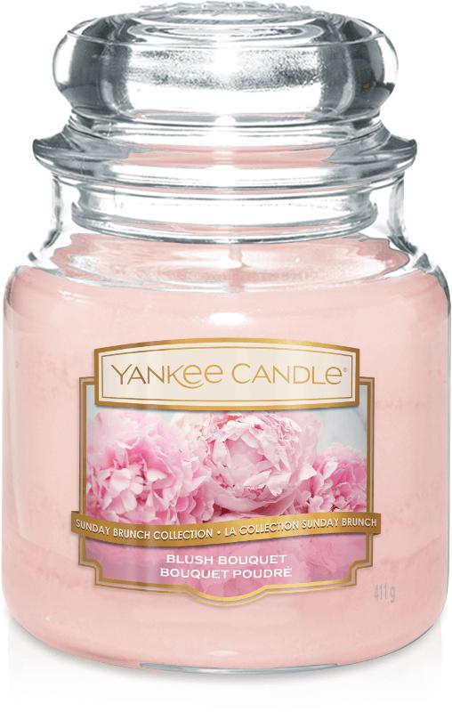 Yankee Candle Collection 2019 Sunday Brunch: Bouquet Poudré / Blush Bouquet - Moyenne Jarre