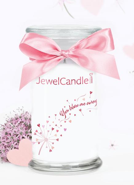 photo de produit jewecandle de parfum parfumée jewelcandle avec un bijou swaroskie a l'intérieur