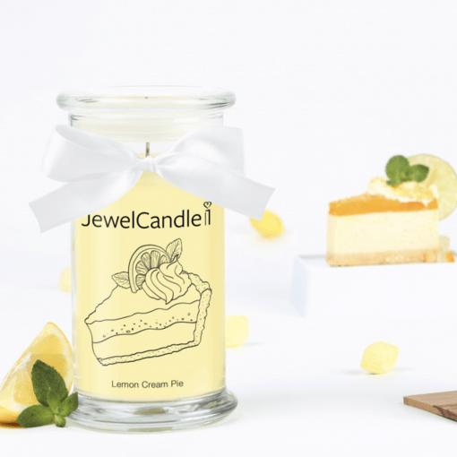 photo de bougie parfumé au citron